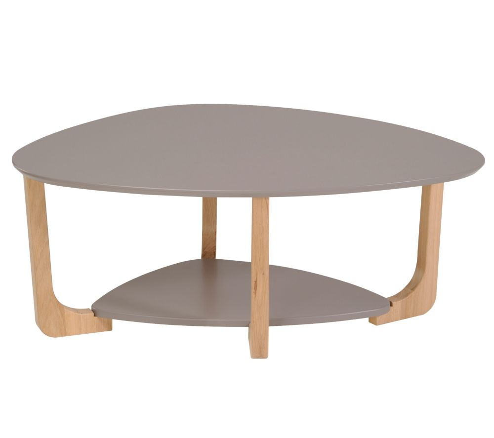 Table basse ovale bois - Table de salon ovale ...
