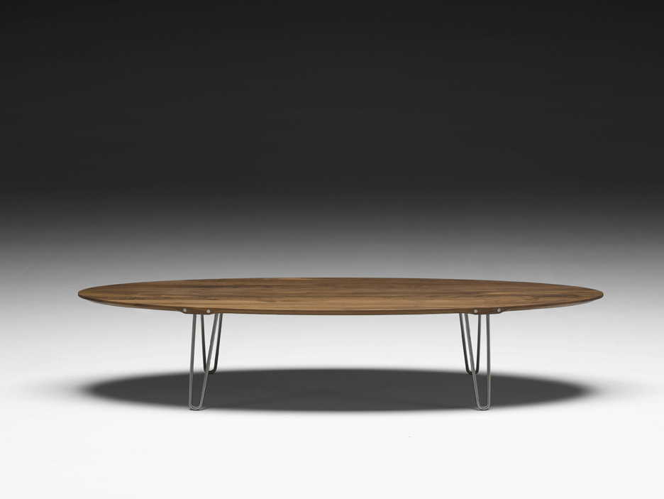 Photo table basse ovale bois - Table basse ovale design ...