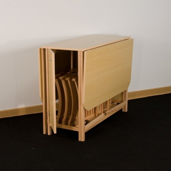Table console avec chaise integree - Table a manger avec chaise encastrable ...