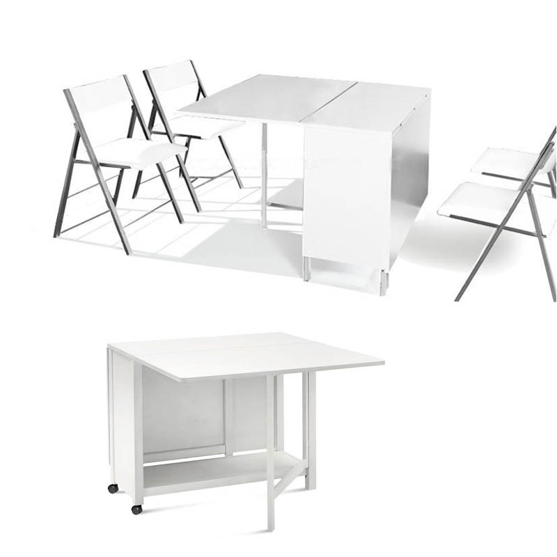 Table console avec chaise for Table pliante avec chaises integrees