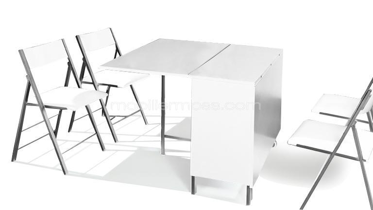 table console avec chaise integree. Black Bedroom Furniture Sets. Home Design Ideas
