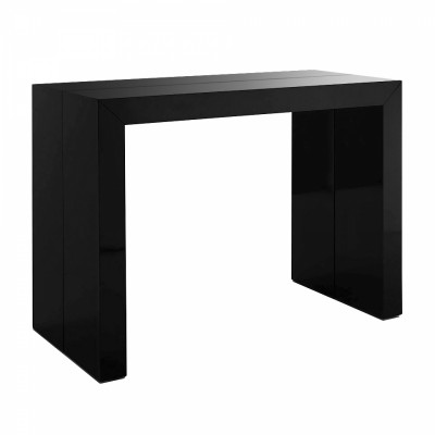 Photo table console extensible ikea noir for Meuble console ikea