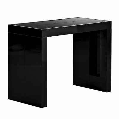 table console extensible ikea noir
