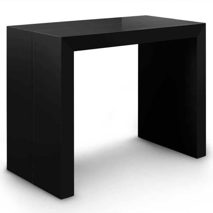 id e table console nassau laquee noir. Black Bedroom Furniture Sets. Home Design Ideas