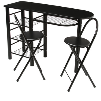 table de bar grise. Black Bedroom Furniture Sets. Home Design Ideas