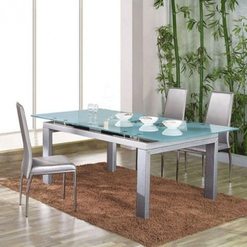 table de salle a manger en verre. Black Bedroom Furniture Sets. Home Design Ideas
