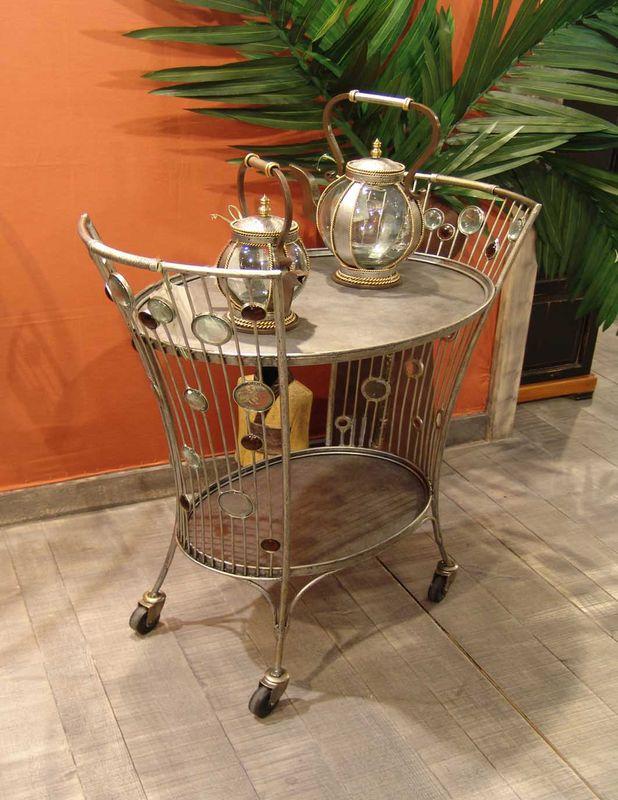 table roulante desserte fer forge. Black Bedroom Furniture Sets. Home Design Ideas