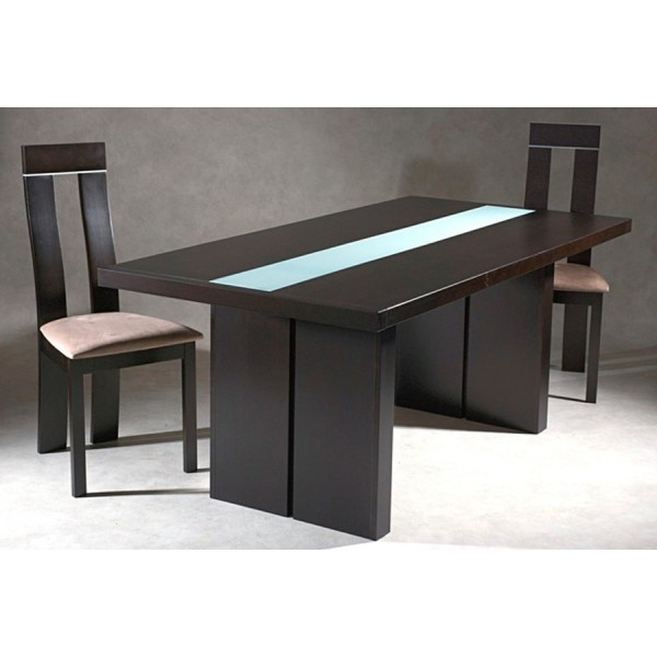 Table a manger wenge for Meuble salle a manger wenge