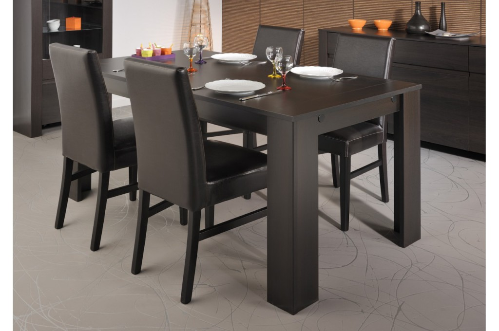 Table salle a manger wenge maison design for Table salle a manger wenge but