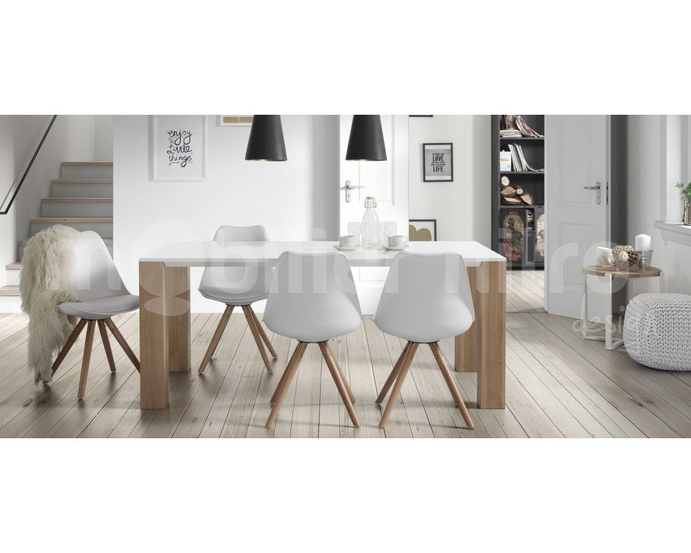 Tables et chaises de salle a manger but for Ensemble table et chaise de cuisine blanc
