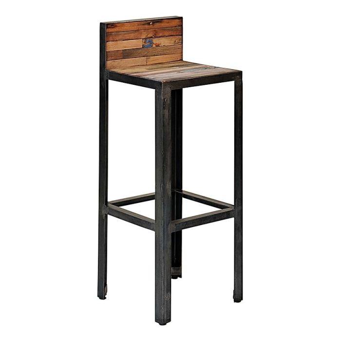 Tabouret de bar avec dossier - Chaise de bar avec dossier ...