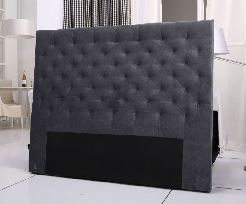 tete de lit velours capitonnee. Black Bedroom Furniture Sets. Home Design Ideas