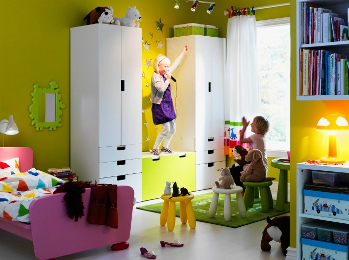 Grand Meuble Rangement Chambre : Chambre Fille Ikeaconception pour ikea chambre fille  ikea
