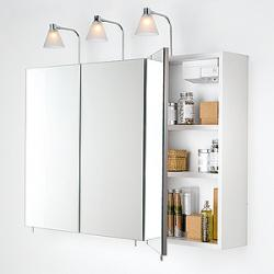 Armoire salle de bain tryptique for Armoire de toilette miroir ikea