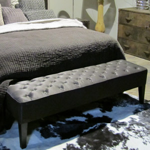 banc bout de lit noir. Black Bedroom Furniture Sets. Home Design Ideas