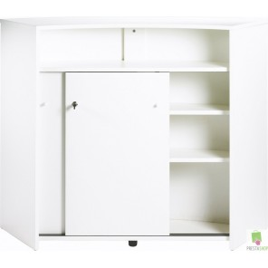 buffet de cuisine blanc pas cher. Black Bedroom Furniture Sets. Home Design Ideas