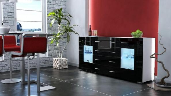 buffet de cuisine design pas cher. Black Bedroom Furniture Sets. Home Design Ideas