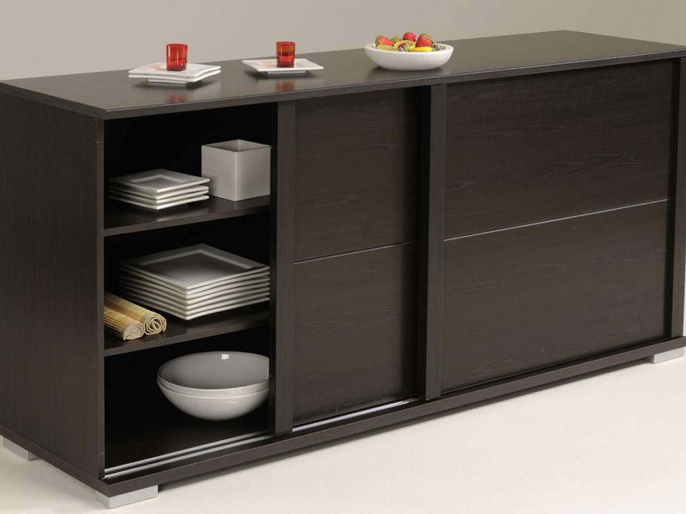 buffet de cuisine wenge. Black Bedroom Furniture Sets. Home Design Ideas