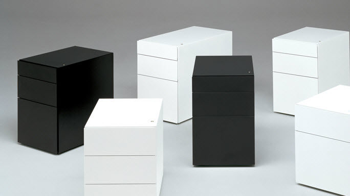 caisson de bureau plastique. Black Bedroom Furniture Sets. Home Design Ideas