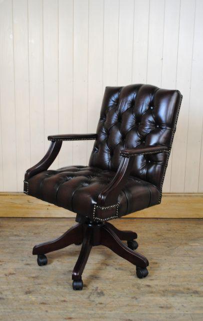 chaise de bureau anglais. Black Bedroom Furniture Sets. Home Design Ideas