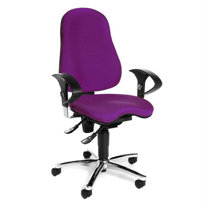 chaise de bureau mauve