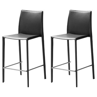 Chaise de cuisine cuir noir for Chaise cuir noir
