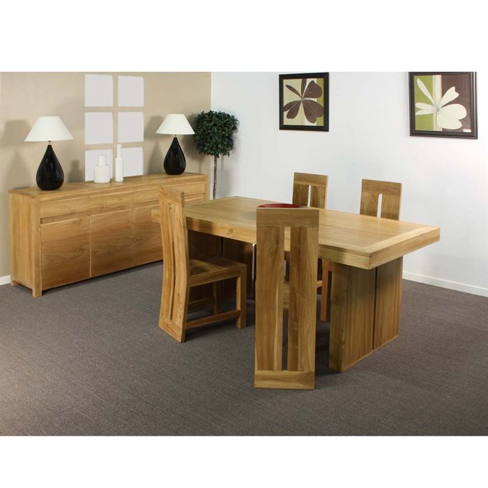 chaises de salle a manger en teck. Black Bedroom Furniture Sets. Home Design Ideas