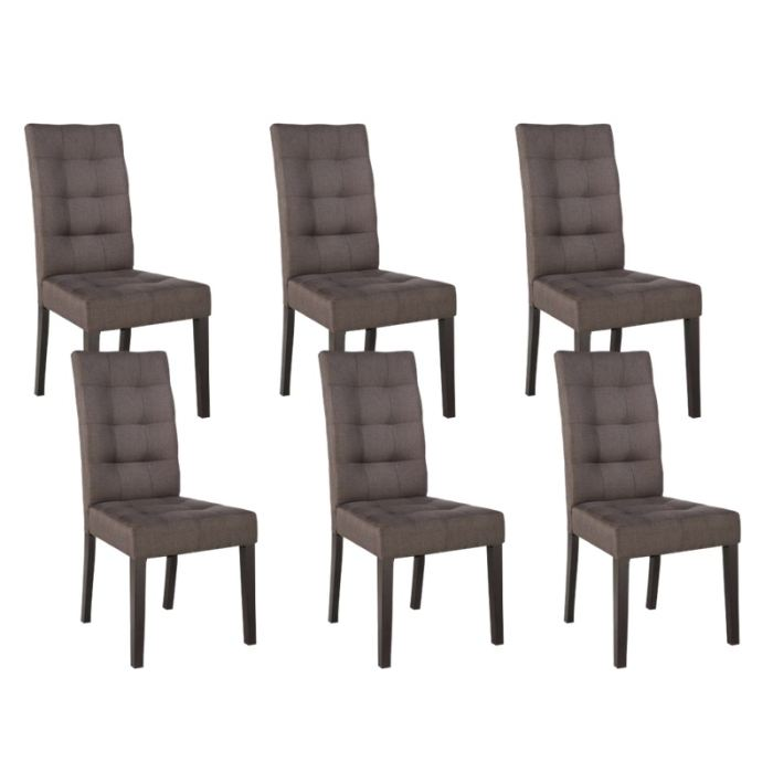 Chaises de salle a manger taupe for Table a manger plus chaise