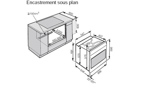 Meubles de cuisine meubles de cuisines - Four encastrable petite taille ...