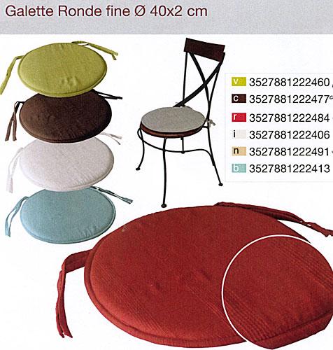 galette de chaise fine. Black Bedroom Furniture Sets. Home Design Ideas