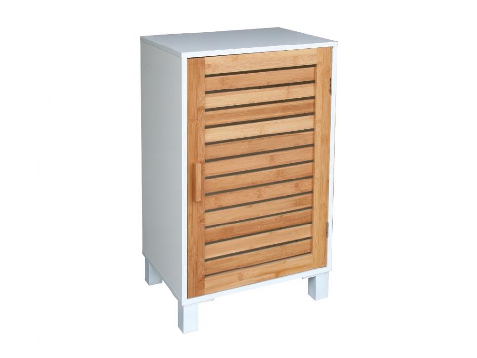 Meuble bas salle de bain bois for Meuble rangement salle de bain bois
