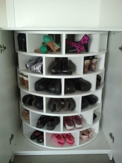 Meuble chaussures tournant - Fabriquer un meuble a chaussures facile ...