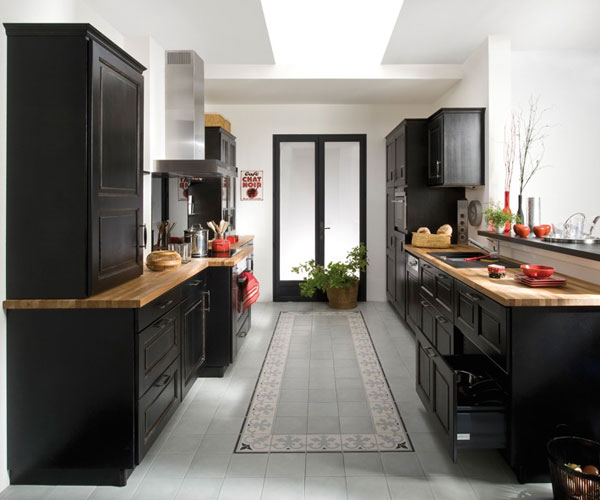 organisation meuble de cuisine noir laque. Black Bedroom Furniture Sets. Home Design Ideas
