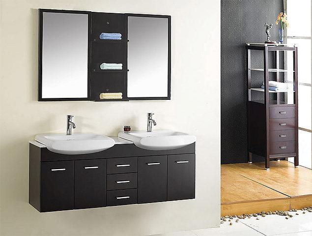 Meuble salle de bain double vasque - Meuble salle de bain double vasque noir ...