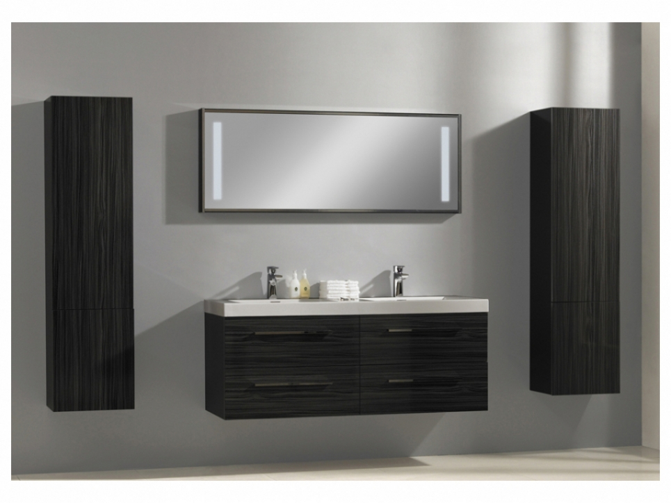 Photo meuble salle de bain double vasque for Vasque salle de bain double
