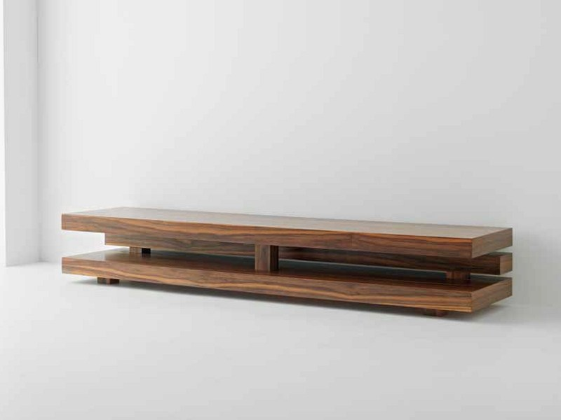 Meuble Tv Bois Exotique : Low Wooden TV Stands
