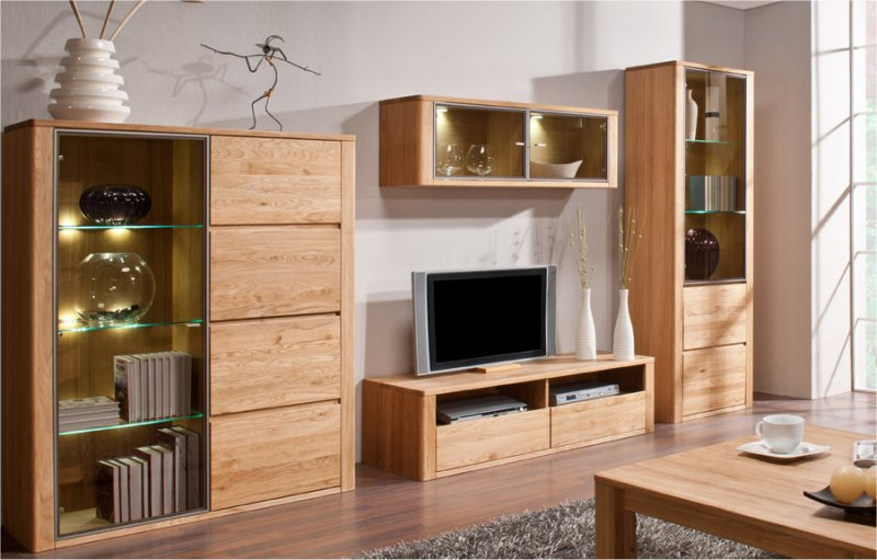 Meuble tv bas en bois for Modele meuble salon