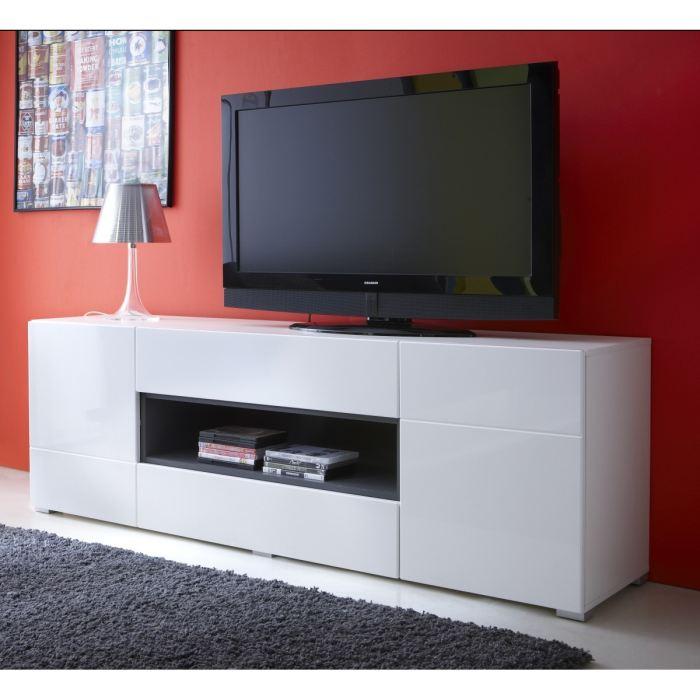 Meuble tv haut blanc - Idee meuble tv fait maison ...