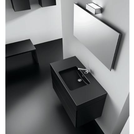 meuble vasque noir laque. Black Bedroom Furniture Sets. Home Design Ideas