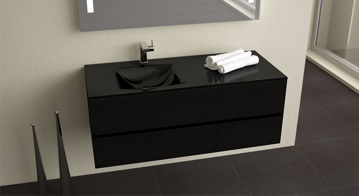 awesome salle de bain vasque noire photos awesome interior home satellite. Black Bedroom Furniture Sets. Home Design Ideas