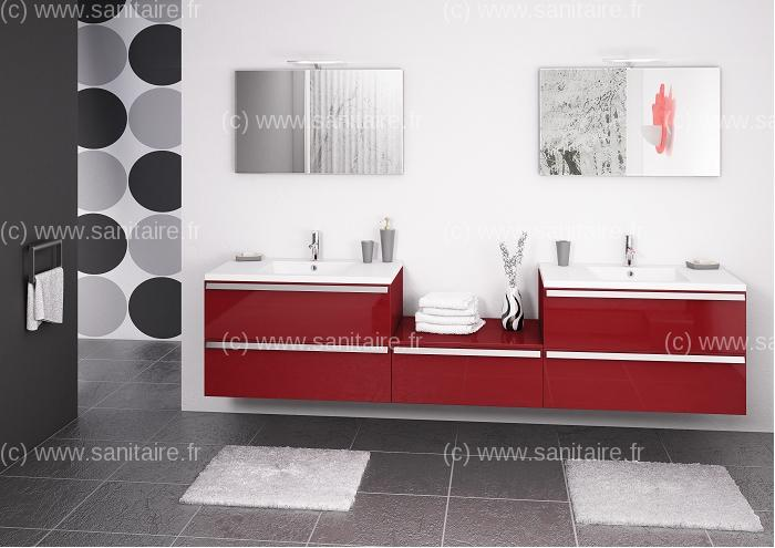meuble salle de bain rouge double vasque meuble de salon contemporain. Black Bedroom Furniture Sets. Home Design Ideas