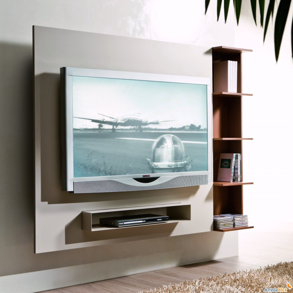 Support mural tv et decodeur - Support tv mural avec etagere ...