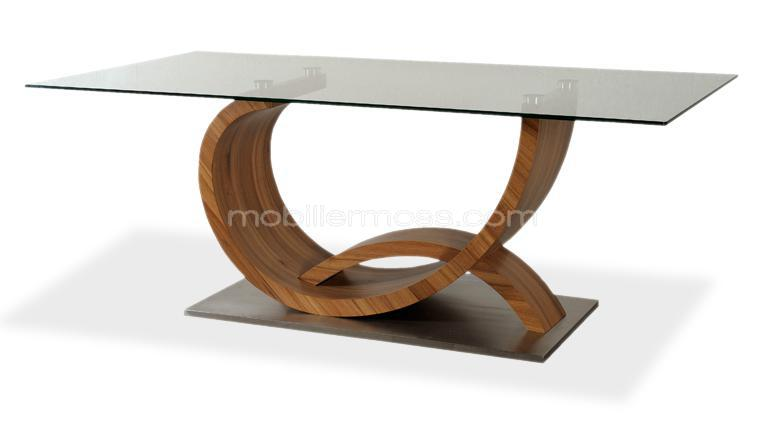 Table a manger design bois for Table de salon a manger