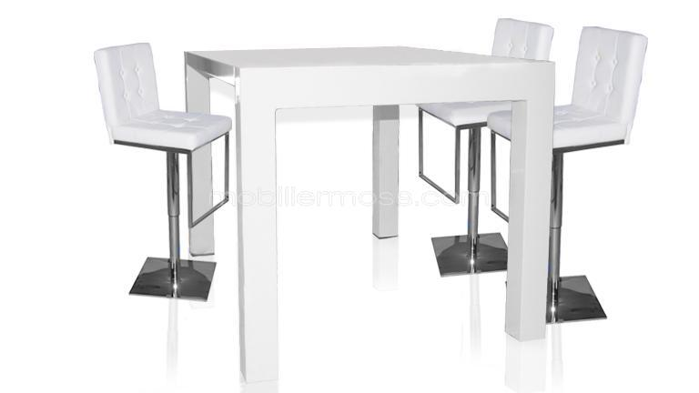 Table a manger haute extensible for Table de cuisine rectangulaire extensible