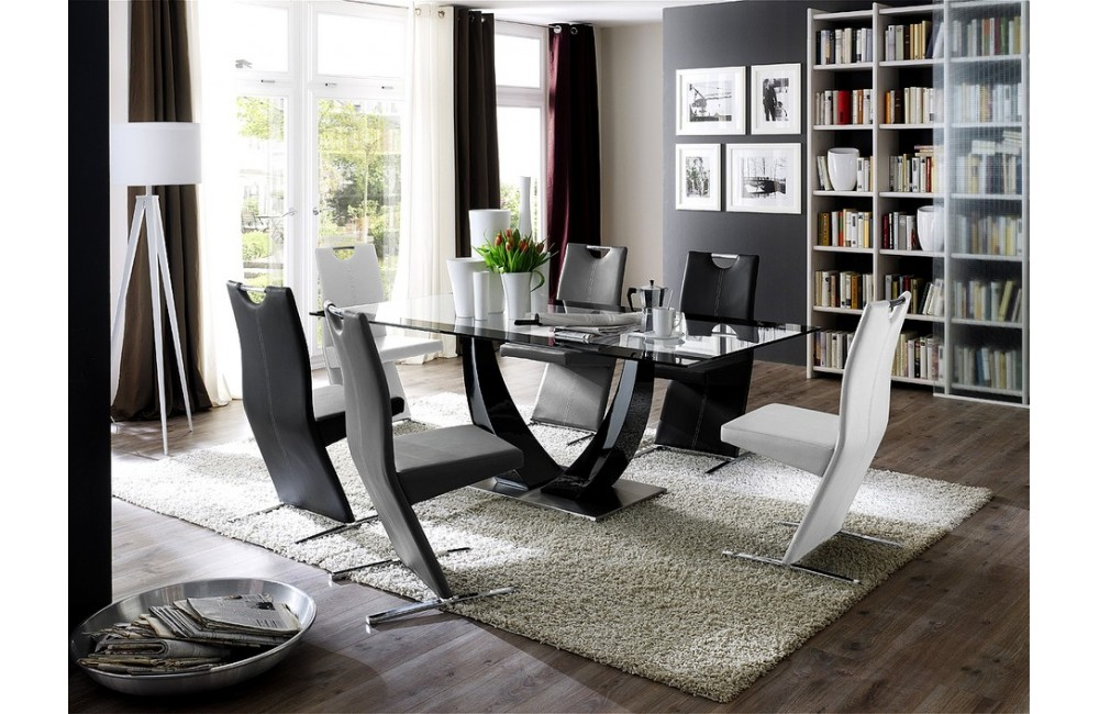 table a manger moderne. Black Bedroom Furniture Sets. Home Design Ideas