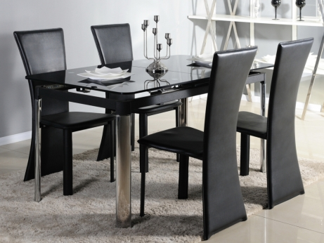 table a manger verre trempe. Black Bedroom Furniture Sets. Home Design Ideas