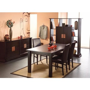 table a manger wenge pas cher. Black Bedroom Furniture Sets. Home Design Ideas