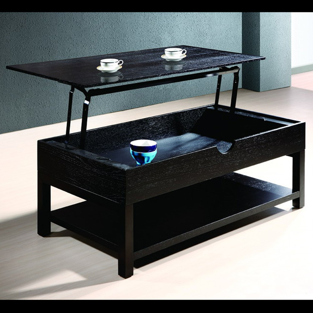 Table basse avec plateau relevable - Table de salon convertible ...