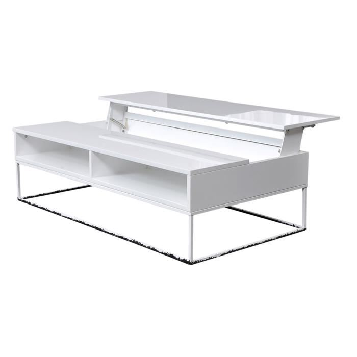 Table basse avec plateau relevable - Table de salon plateau relevable ...