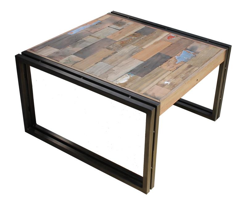 Table basse bois et metal noir images - Table basse bois et noir ...